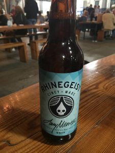 A bottle of the special brew, Amy, produced by Rhinegeist, 2017.
