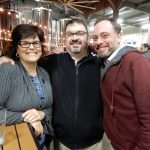 Cynthia and Brian Maltry with Albie Rahn at Rhinegeist 2017.
