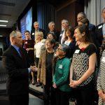 Hamilton County Juvenile Court Judge John Williams congratulates new CASA Volunteers